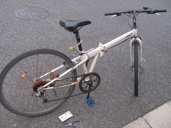 自転車ブレーキゴム交換