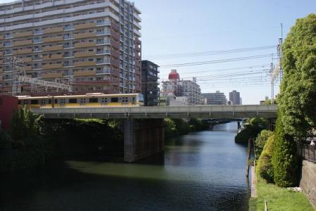 横十間川と総武線