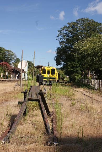車止めといすみ鉄道