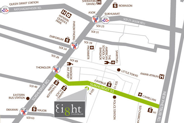 Eight Thonglor map