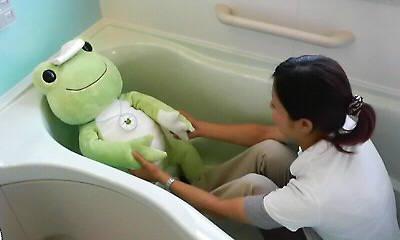 カエルとお風呂
