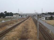 駅近くから見た福北ゆたか線の線路