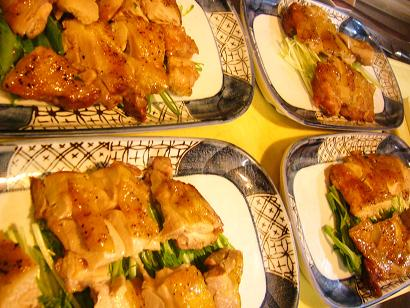 宴会鶏塩焼き