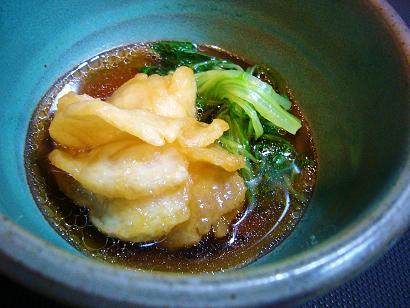 鱧と水菜の葛煮 (3)