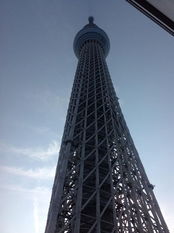逆光な東京スカイツリー