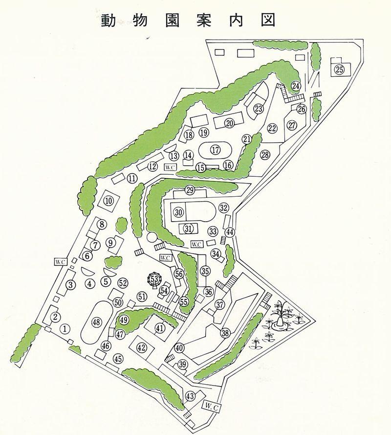 旧浜松市動物園 園内図(1)