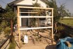 ハウスの骨組み完成20120506