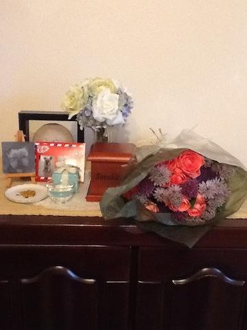 寅ちゃんとらりぃ母さんからのお花