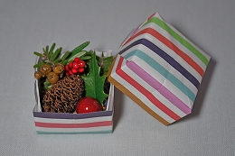 1127折り紙箱クリスマス2
