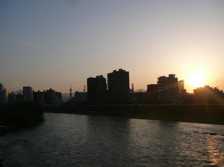 夕日も素敵!
