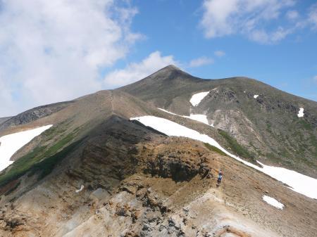 目標の十勝岳が近くなってきたゾー