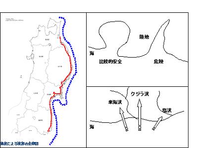 津波による被害の全域図