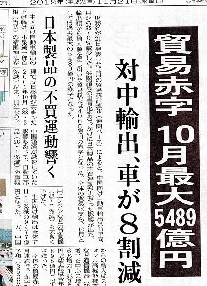 99 車 尖閣問題 20121121