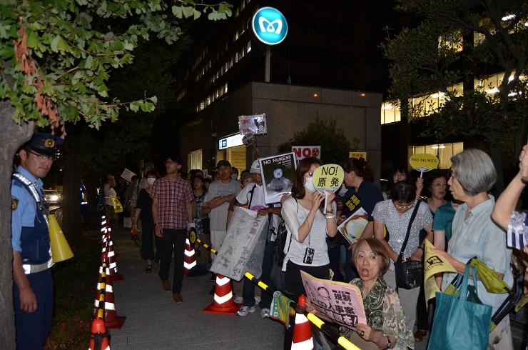 官邸前行動 201209