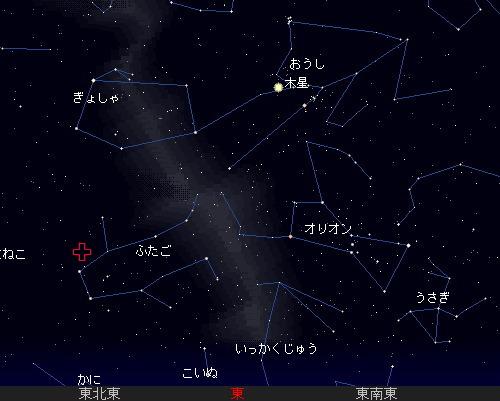 201212 13~14 ふたご座流星群星図20時