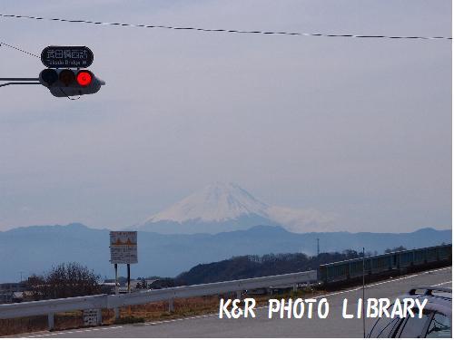 富士山を見ながら移動