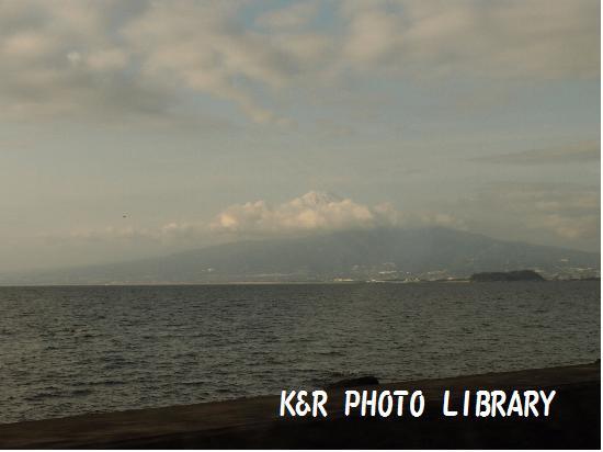 帰路の富士山
