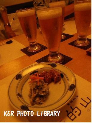 8月9日的山ビール&真鯛の煮こごり&白あえ