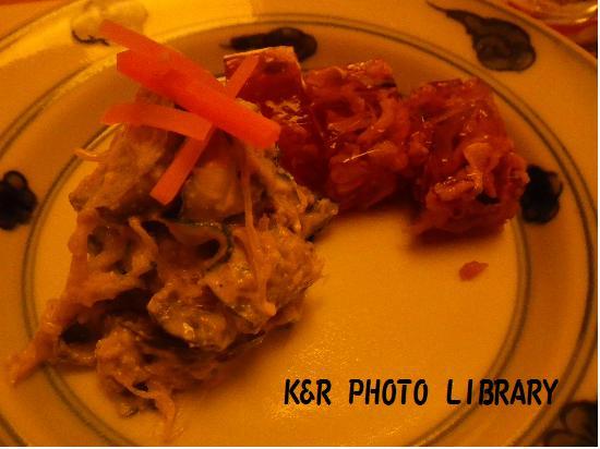 8月9日的山真鯛の煮こごり&白あえ