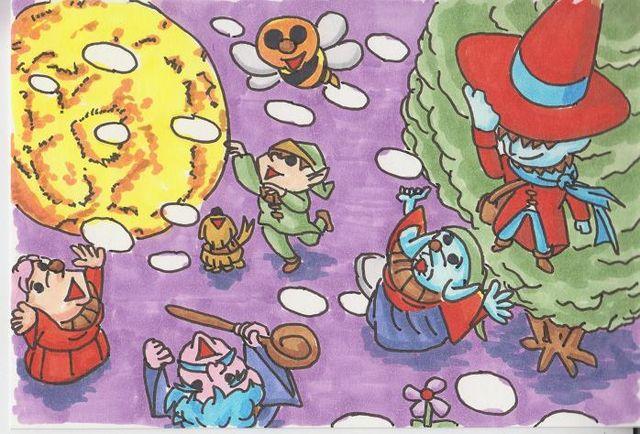 夜空と木の妖精7