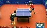 【卓球】 上田仁VSチェンフォン(U21準決勝)ジャパンオープン2012