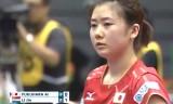【卓球】 福原愛VSリージエ(2回戦) ジャパンオープン2012