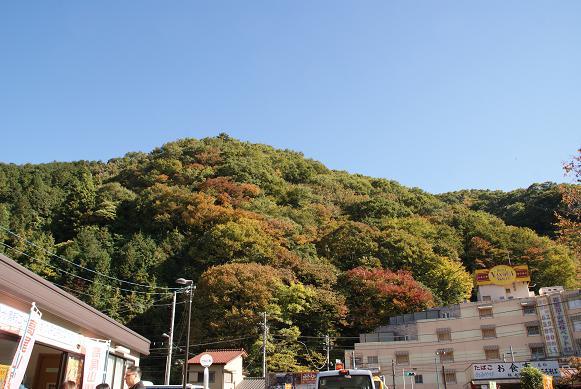 山は紅葉には程遠く・・・