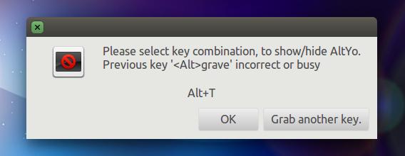 AltYo Ubuntu 端末エミュレーター ショートカットキーの設定