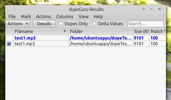dupeGuru Ubuntu 重複ファイルの削除