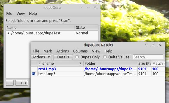 dupeGuru Ubuntu 重複ファイルの検索と削除
