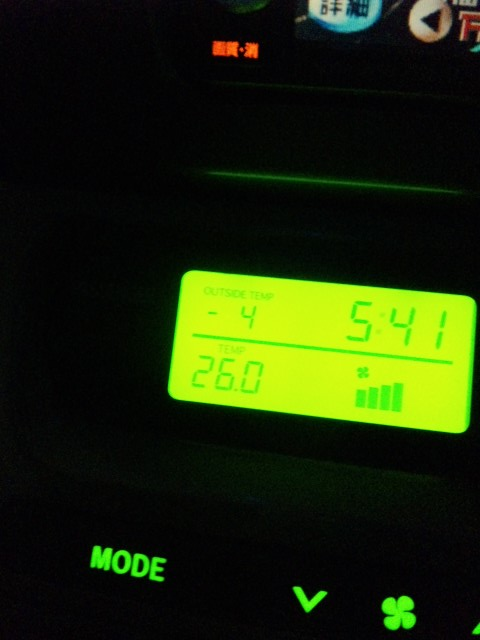 マイナス4℃(>_