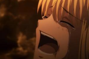 セイバー号泣?
