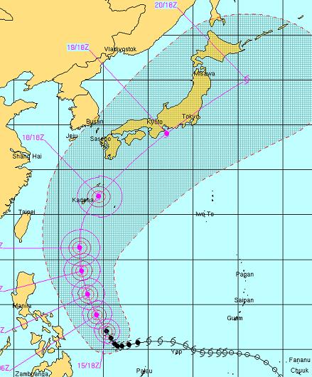 台風4号20120616