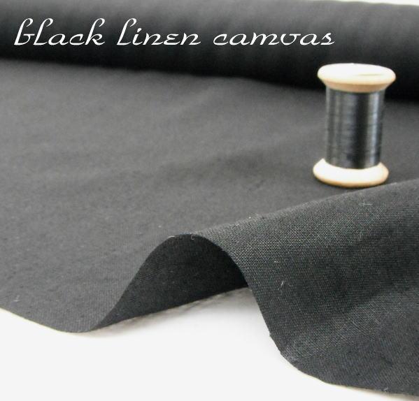 リネンキャンバス・ブラック