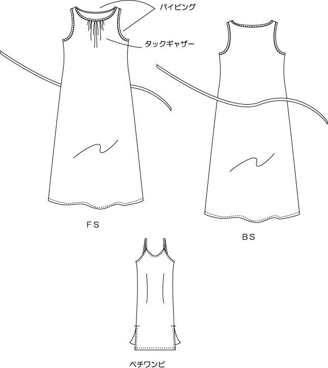 マキシワンピの絵型