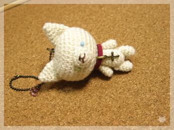 白猫さんマスコット-オッドアイその2