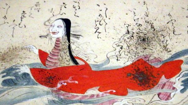 東博 道成寺絵巻より蛇に化身