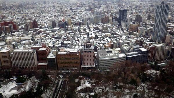 都庁から西を見る。中央公園、十二社、中野