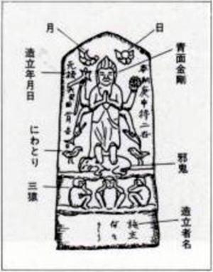 一般的な庚申塔の形