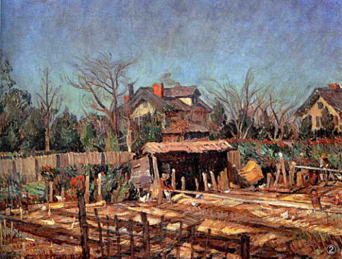 中村彝『目白の冬』(1920年)