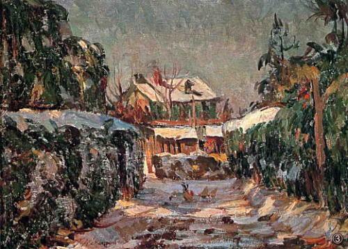中村彝『風景』(1919~1920年)。