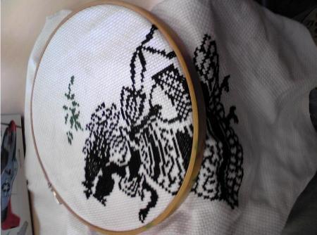 クロスハッチ刺繍