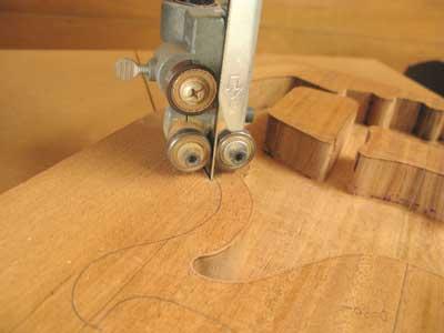 ギター工房シンラインギター制作