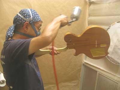 ギター塗装
