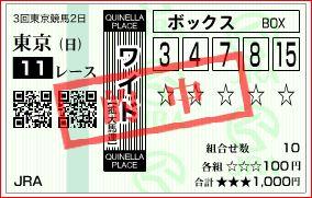 東京11R 安田記念