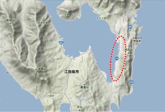 2)江田島町南部・鷲部地区