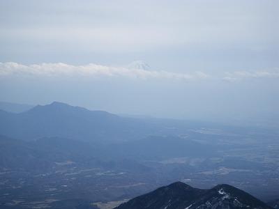 富士山はうっすら