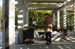 鏡山公園で練習20140126-1