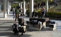 鏡山公園で練習20140126-2