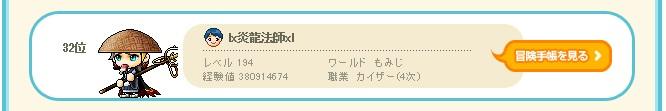 炎龍法師、ランキング32位、666.111